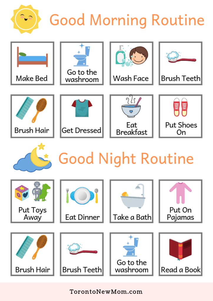 Morning and Evening Routines Chart