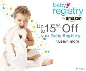 Up to 15% off with amazon baby registry